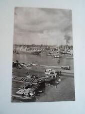 Vintage Real Photo Postcard Rotterdam Docks Netherlands Franked+Stamped 1964