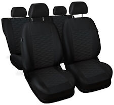 CAR SEAT COVERS full set fit Ford Fiesta - leatherette Eco leather black