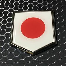 "Japan Flag Domed CHROME Emblem Proud Nippon Flag Car 3D Sticker 2""x 2.25"" Tokio"