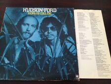 HUDSON-FORD WORLDS COLLIDE LP W/ORIGINAL LYRIC SLEEVE 1975 A&M LABEL STRAWBS