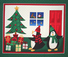 Makower Christmas Morning Gifts fabric panel square cotton quilt block quilting