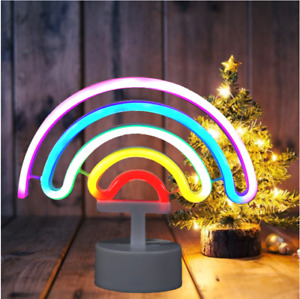LED Neon Modeling Lights Rainbow Decorative Lights Home Festive Atmosphere Lamp