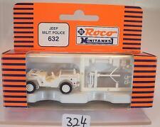 Roco Minitanks 1/87 No. 632 Jeep Military Police US-Army Militär OVP #324