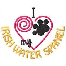 "I ""Heart"" My Irish Water Spaniel Sweatshirt 1365-2 Sizes S - Xxl"