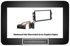 Einbauset + Adapter für Chevrolet  Aveo Captiva  Epica  Radioblende 2DIN