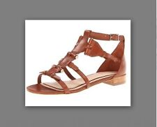 $300 Victoria Secret Sandals Pour LaVictoire Eleni 9.5 BROWN Leather Gladiators