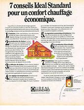 PUBLICITE ADVERTISING 054  1974  IDEAL  STANDARD     chauffage économique