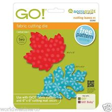 AccuQuilt GO! & Baby Fabric Cutting Die Rustling Leaves 4 Maple and Oak 55392