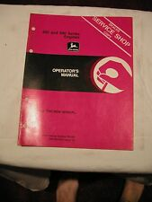 John Deere 400 500 Series Engine Units Jd Operator's Manual #Om-R67604 Issue J9