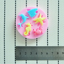 Silicone Mould Cake Decorating Sugarcraft Fondant Mold With Seahorse Shells