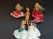 Lot Of 5 Vintage Dolls Plastic Sleepbeyes Creepy 60's