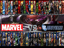 Marvel vs Dc Style H  Poster 13x19