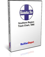 Santa Fe Track Chart Southern Region 1995 - PDF on CD - RailfanDepot