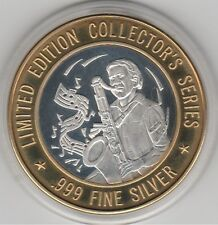 1994 Grand Casino Jazz Saxaphone Player .999 Fine Silver Strike Gaming Token