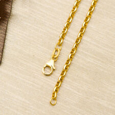 NEW Pure 18K Yellow Gold Necklace Special Anchor Link Chain 20 inch L
