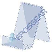 1 Small Clear Perspex Acrylic Plastic Book Plate Retail Display Stand Holder