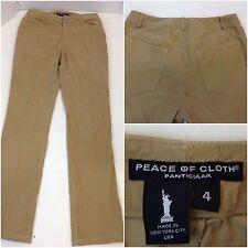 Peace Of Cloth Pants Size 4 Womens Camel Faux Suede Corduroy Euc Ygi P9-15