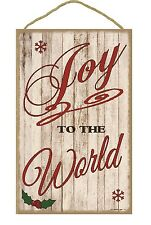 """Joy To The World Christmas Holiday Sign Plaque 10""""x16"""""""