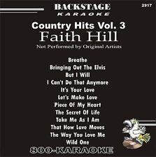Backstage 2917 Karaoke 12 Song Faith Hill Favorites karoke cd+g Wild One Breathe
