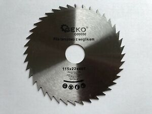 Saw Blades Angle Grinder SET 115x22 pack of 2 for Wood Cutting Disc Circular