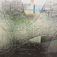 90 X 50cm PVC 3D Static Cling Film Stained Glass Paper Frosted Home Window Decor