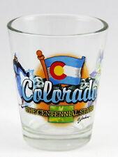 COLORADO CENTENNIAL STATE ELEMENTS SHOT GLASS SHOTGLASS