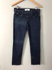 Hollister Blue Jeans Dark Slim Skinny Low Rise Dark Women Size 7 / 28