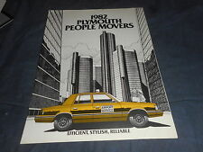 1982 Plymouth Reliant and Fury Taxi Brochure Catalog Prospekt