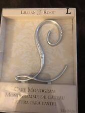 Lillian Rose Rhinestone, Monogram Cake Topper Letter L Silver