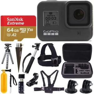 GoPro HERO8 Black Waterproof Action Camera w/Touch Screen 4K HD Video 12MP Photo