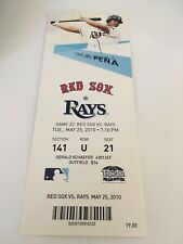 Jon Lester Win #47 9Ks May 25 2010 5/25/10 Rays Red Sox Full Ticket David Ortiz