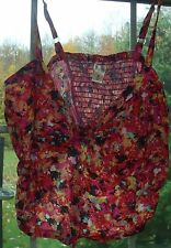 #1246 DECREE LADIES JUNIOR SIZE LARGE PINK FLORAL SNAP FRONT BUSTIER TOP NEW TAG