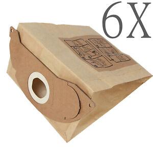 6X Vacuum Cleaner Bag For Karcher 1.629 -100.0 KAR69043220 A2004 CCC WD2.200 NEW