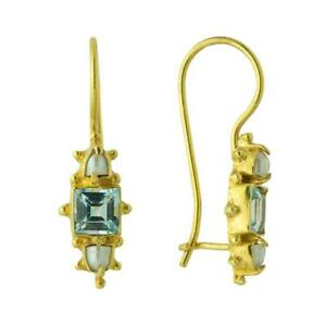 Milano Topaz and Pearl Earrings: Museum of Jewelry