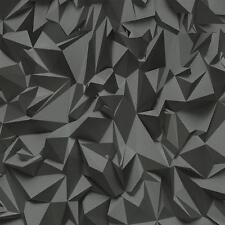 3d Efecto Estampado Triángulo Geométrico Papel pintado textura no tejida