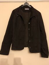 Ladies Size 12 Brown Cotton Jacket From Wallis