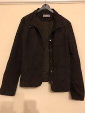Ladies Size 12 Brown Cotton Jacket From Wallis