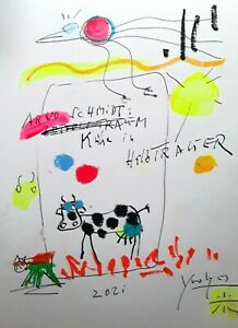 #YOOLYUS UNIKAT ORIGINAL HANDSIGNIERT ARNO SCHMIDT GRAFIK   STREET POP ART 2163