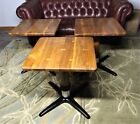 Set of 3 Vintage Chairmasters Bar or Pub Tables, Restored, 2' X 2', Iron Bases