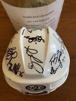 1997-98 Tampa Bay Lighting Mini Helmet Team Autographed Signed COA
