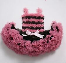 Boutique PettiSkirt Tutu Brown Pink Set Pageant Girls