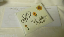 Wedding Party Ceremony Supplies Silver  Hearts ~Sunflower~ Summer Guest Book