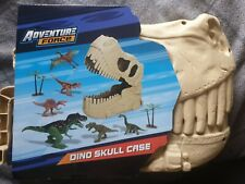 Dinosaur Skull Toy Case Tub Of Dinosaurs 12pc with case NEW