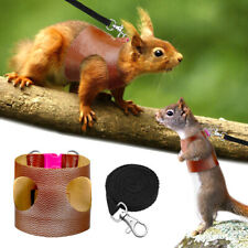 Leather Small Animals Harness Lead Guinea Pig Ferret Hamster Squirrel Clothes