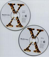 Apple Mac Jaguar OS 10.2 CDs w OS 10.2.8 ComboUpdate CD