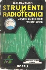 STRUMENTI RADIO RAVALICO HOEPLI SERVIZIO RADIOTECNICO RICEVITORI A VALVOLE