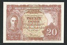 *UNC / AUNC* 1941 - Malaya - 20 Cents George VI #BAK