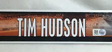 TIM HUDSON GAME-USED SF GIANTS CLUBHOUSE LOCKER NAME PLATE 2014 WORLD SERIES YR
