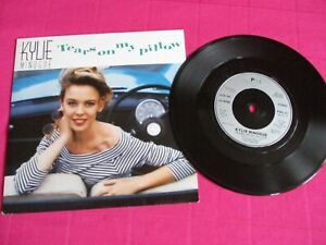 """Kylie Minogue """"Tears on my pillow"""" UK 7"""" 1990"""
