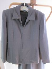 TWO PIECE GREY SKIRT SUIT  SIZE 14 BY MILLERS